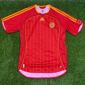 Adidas Spain Home Soccer Jersey Kit 2005 Med